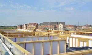 View of Travelodge housing development under construction